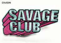 Fashion Iron On Varsity Letter Patches Bright Color  For Savage Club