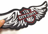 "Vest Or Jacket Embroidered Motorcycle Patches 11"" Width High Thread Count"